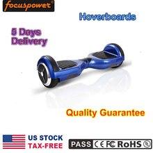 6.5 Pulgadas Negro Scooter 2 Ruedas Auto Equilibrio Scooter de Skateboard Hoverboard de luz Led Inteligente para Niños Adultos azul