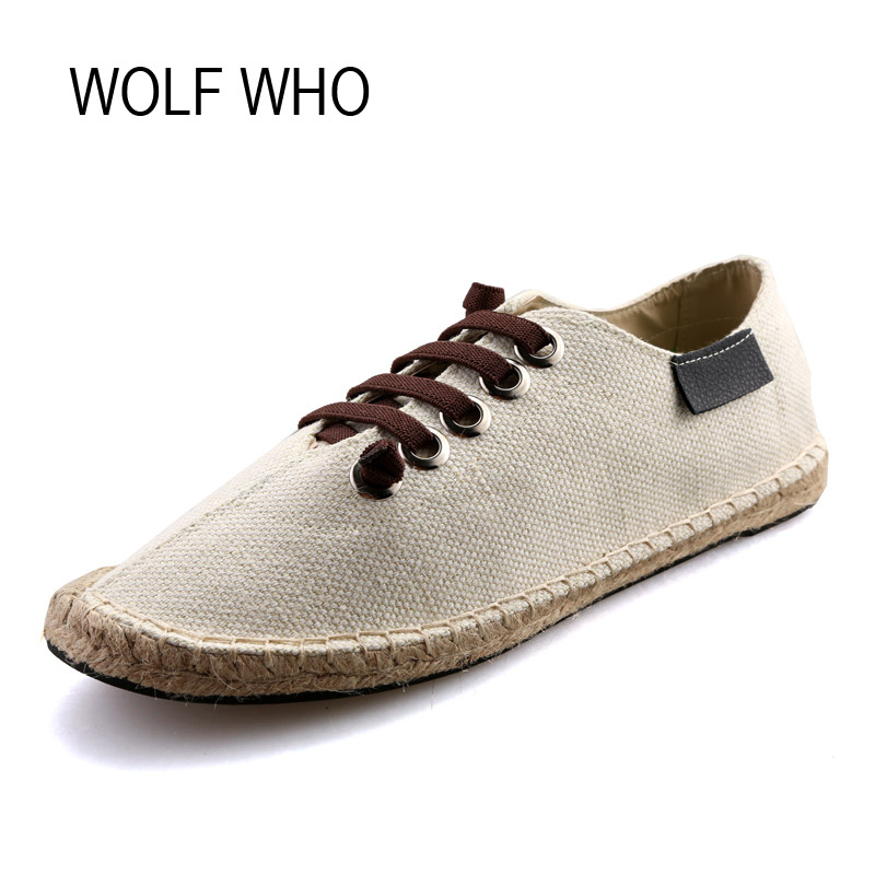 WOLF WHO Summer Canvas Espadrilles Women Moccasins Female Flats Shoes Ladies Slipony Krasovki Footwear Tenis Feminino H-060 wolf who genuine leather women shoes ladies spring krasovki slipony slip on loafers woman tenis feminino casual h 049