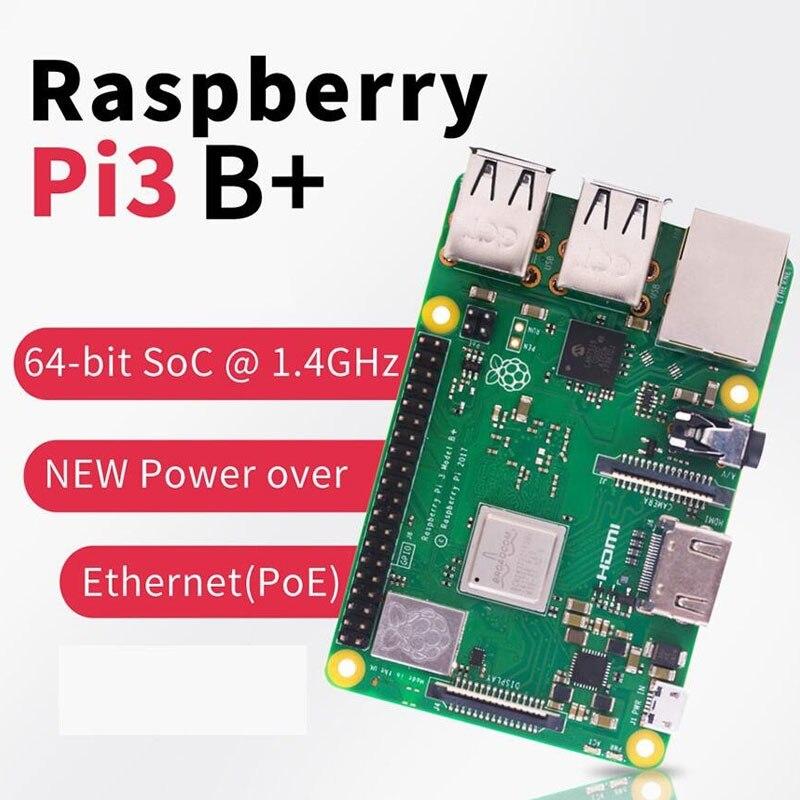 2019 nouveau Raspberry original Pi 3 modèle B + (prise) intégré Broadcom 1.4 GHz quad-core 64 bits processeur Wifi Bluetooth et Port USB