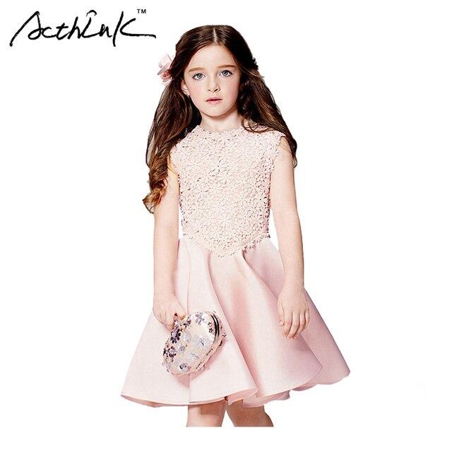 ActhInK Mädchen Neue Floral Rosa Formale Kleid Marke Mädchen ...