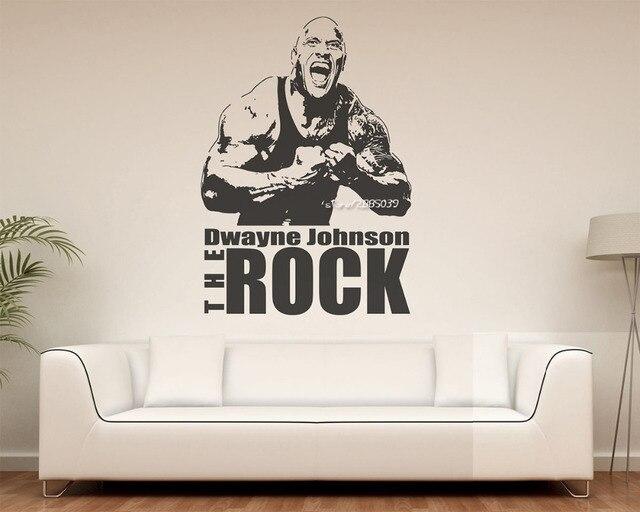 Wandtattoo Home dwayne johnson die rock wandaufkleber superstar ringern wandtattoo