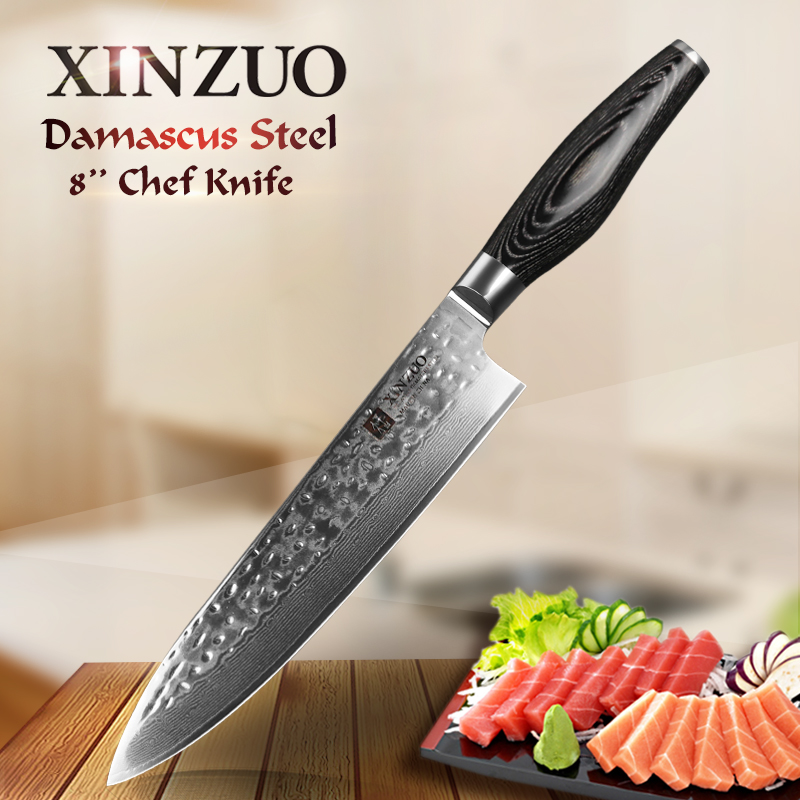 xinzuo 8 inch chef knife japanese damascus stainless steel kitchen knife woman chef knife with. Black Bedroom Furniture Sets. Home Design Ideas