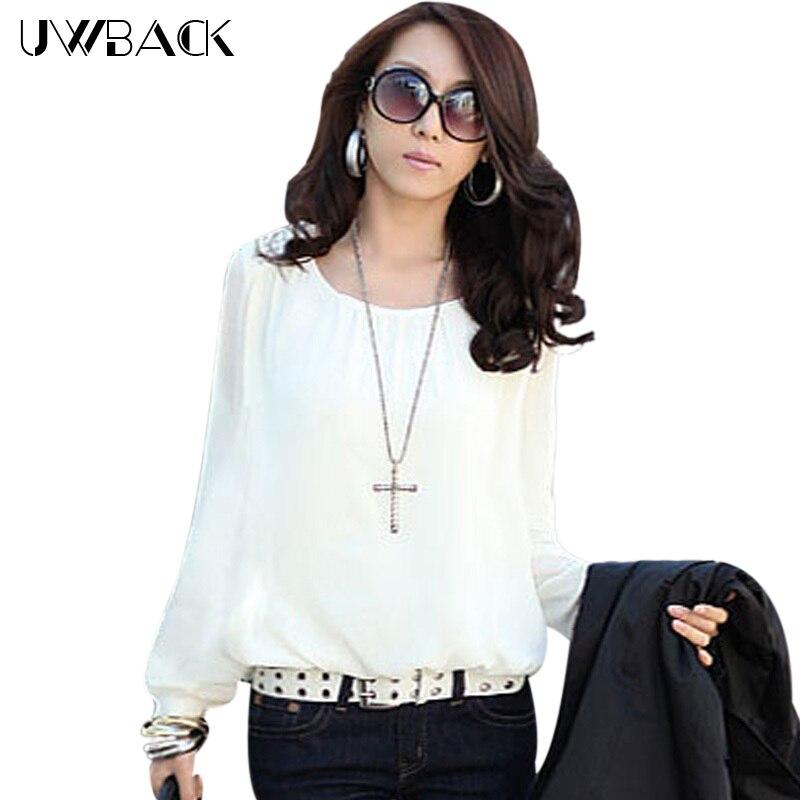 182b99494 2018 جديد وصول الربيع النساء الملابس الشيفون نفخة كم كبير الحجم المرأة بلوزة  قميص فضفاض قاعدة wb020