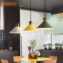 AIBIOU Nordic LED Pendant Lights For Dining Colorful Light E27 Kitchen Hanging Lamp Cord Lighting Fixtures