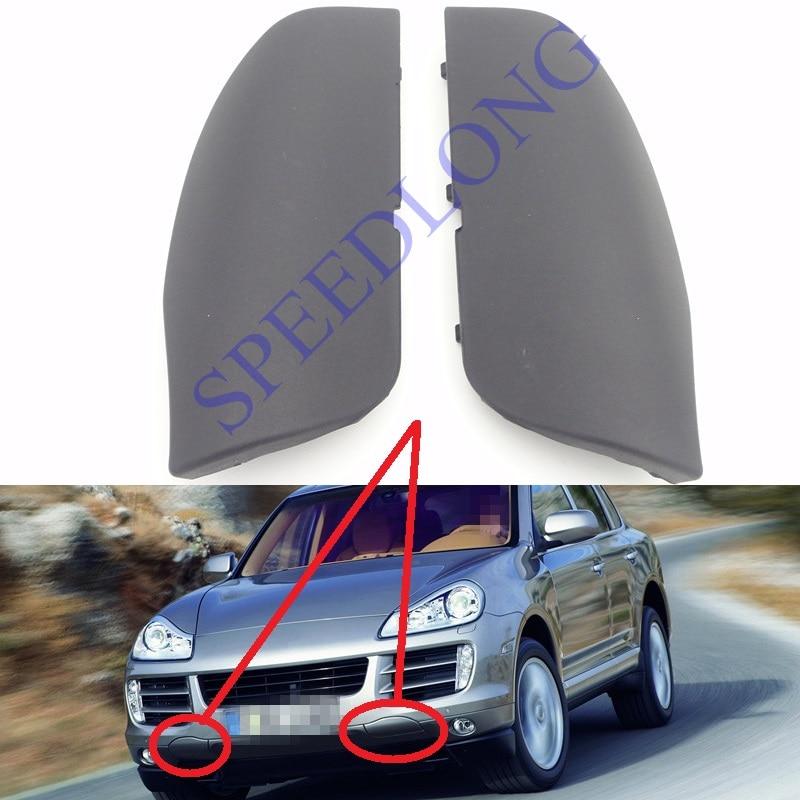2 шт./пара передний бампер Фаркоп Кепки Прицепы Крышка глаз правый и левый для Porsche Cayenne 2008-2010