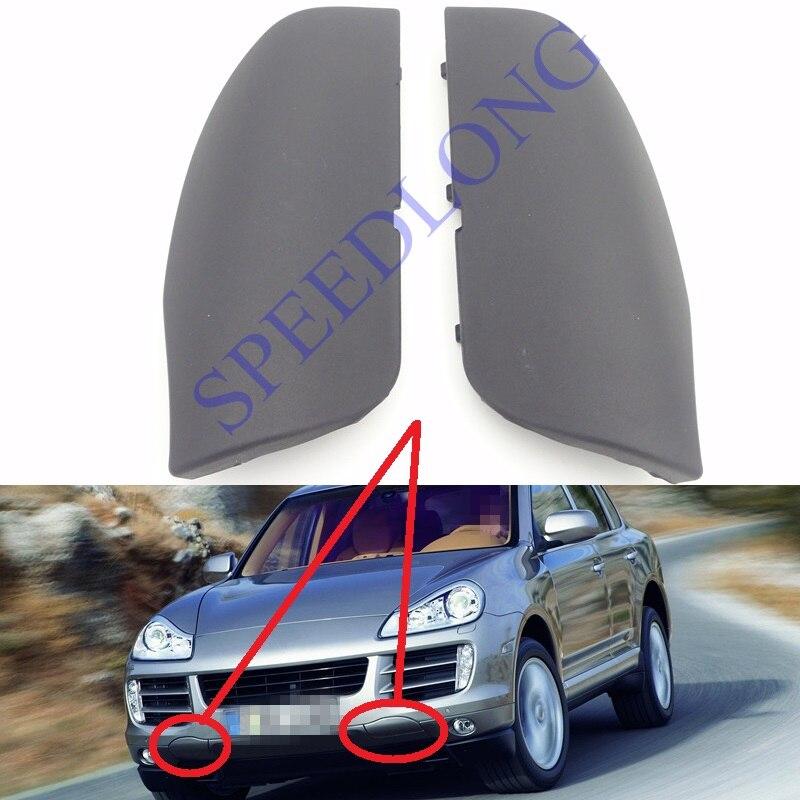 2 Pcs/Pair Front Bumper Tow Hook Cap Trailer Eye Cover RH and LH for Porsche Cayenne 2008-2010 цена