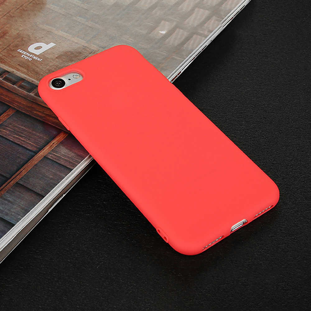 newest 2ed1c b3139 GerTong Phone Case For iPhone X XR XS Max Simple Plain Red Frosted Matte PC  Back Cover Cases For iPhone 7 8 6 6S Plus Candy Capa