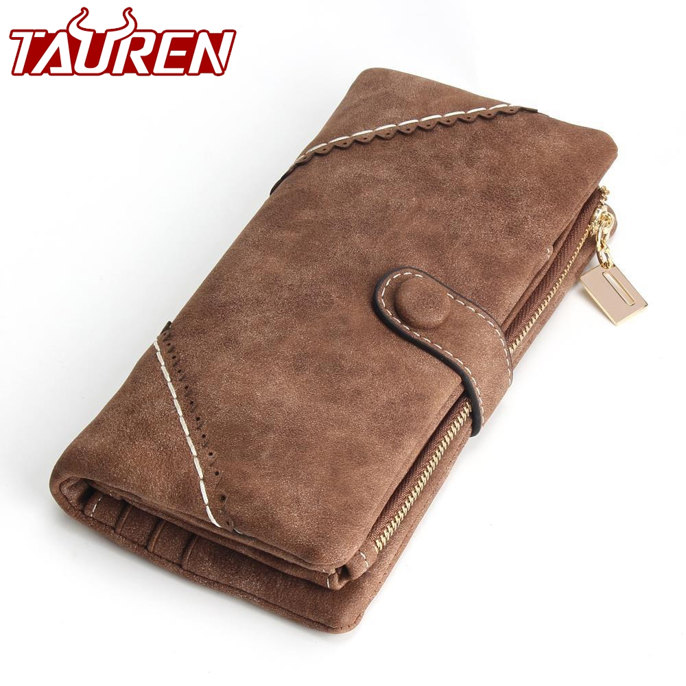 2019 New Women Wallets Coin Case Purse For Phone Card Wallet Leather Purse Ms Frosted Long Purse Vintage Buckles Lace Wallet