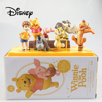 Disney Winnie The Pooh Action Character Q Edition Styling Peripherals Doll Tigger Eeyore Cute Cartoon Character Birthday Gift