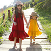 Girls Dress Summer Bohemian Style Sleeveless Mother Daughter Dresses Girls Beach Dress Children Clothes Vestido Infantil