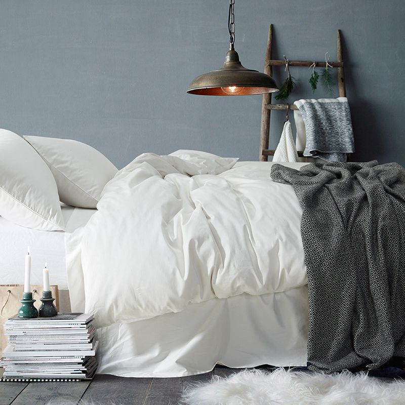 40 Luxury Solid Color <font><b>Egyptian</b></font> <font><b>Cotton</b></font> <font><b>Bedding</b></font> <font><b>Set</b></font> <font><b>Duvet</b></font> Cover Sheet Pillowcase King Queen Size White Gray Blue Bed Linen image
