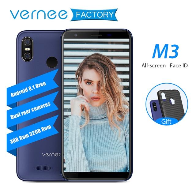 Vernee M3 3 ГБ Оперативная память 32 ГБ Встроенная память мобильного телефона 5,5 дюймов Face ID Android 8,1 4 ядра MTK6739 13MP 3300 мАч 4G LTE разблокирован смартфон