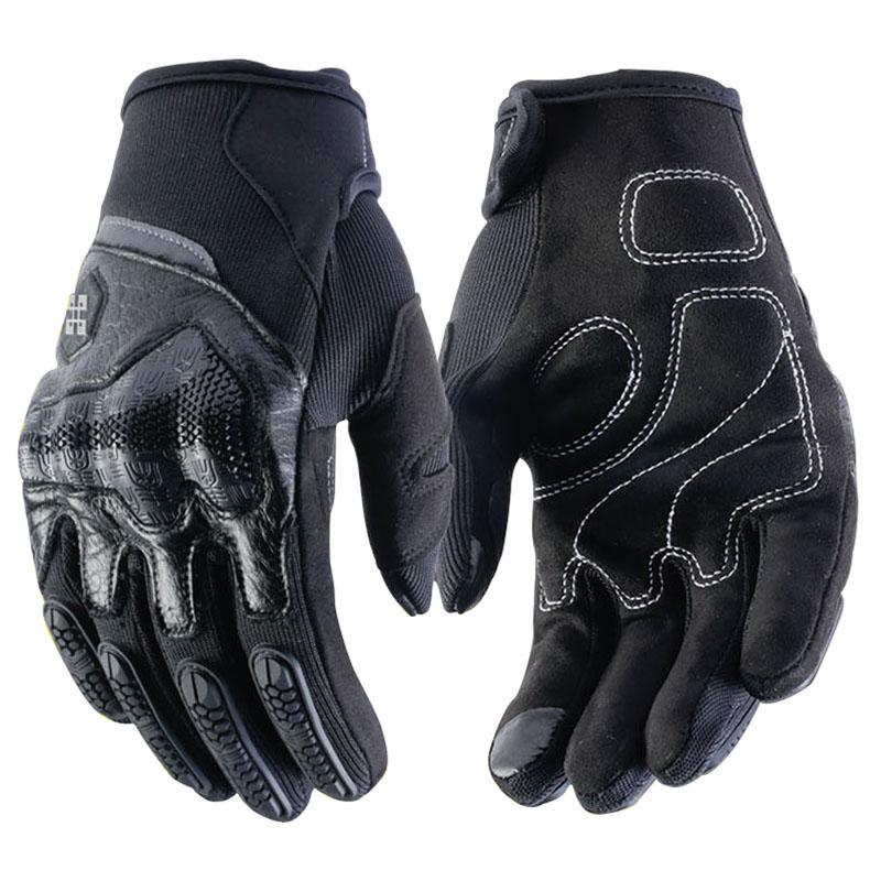 Moto rcycle Handschuhe moto Männer Echtes Leder Handschuh moto kreuz Schutz Getriebe Radfahren Guantes moto Luvas de moto cicleta schwarz