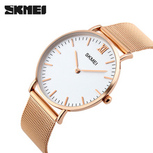 SKMEI Women Thin Quartz Watch Top Brand Luxury Woman Watches Steel Wristwatches Waterproof Clock Ladies Reloj de mujer 1185
