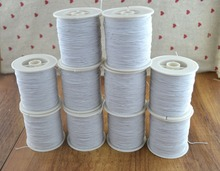 White Elastic Thread household thread 200M per roll 10 rolls / pack ,total 2000 M from  0.05mm sewing suppliers Free shipping.