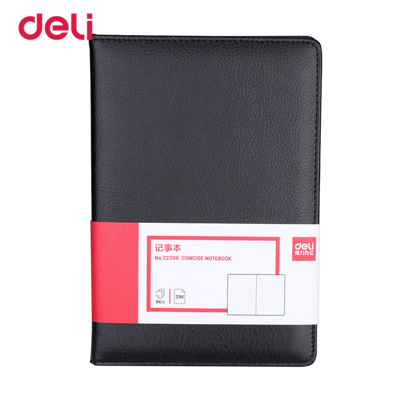 Deli Office Stationery Leather Notebook For school 25K business notebook 96sheets diary notebooks Diary Journal Sketchbook Paper sosw fashion anime theme death note cosplay notebook new school large writing journal 20 5cm 14 5cm