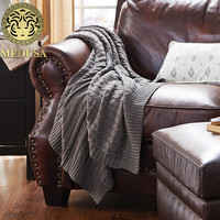 Excellent Pastoral Wool Solid Throw Blanket Grey Milk Green Cheese Bronze Red For Bedding Picnic