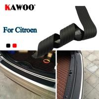 KAWOO עבור סיטרואן C3 C4 C5 DS4 פיקאסו נמו מגשר C-quatre גומי אחורי שומר פגוש להגן Trim כיסוי אדן מחצלת כרית רכב סטיילינג