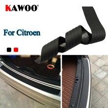 KAWOO para Citroen C3 C4 C5 DS4 Picasso Jersey Nemo C-Quatre de goma para parachoques protector trasero proteger Trim cubierta de ventana Mat Pad estilo de coche