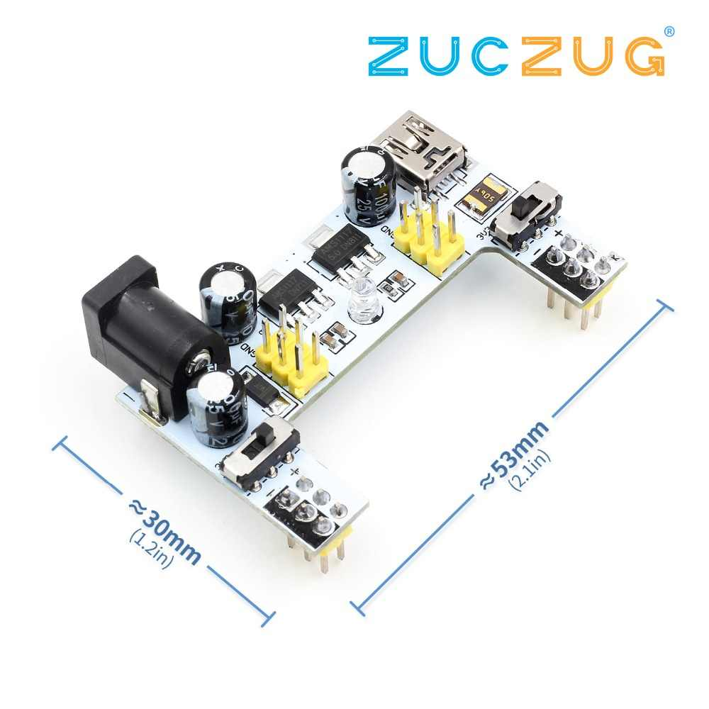 MB102 DC 7-12V Micro USB Interface Breadboard Power Supply โมดูล MB-102 โมดูล 2 ช่อง DIY ชุด