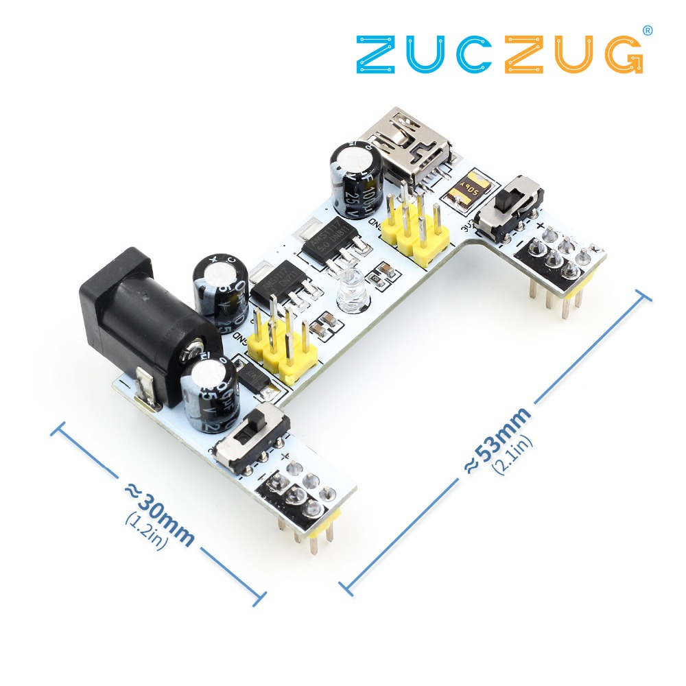 MB102 micro usb interface breadboard power supply module 2 channel board TO
