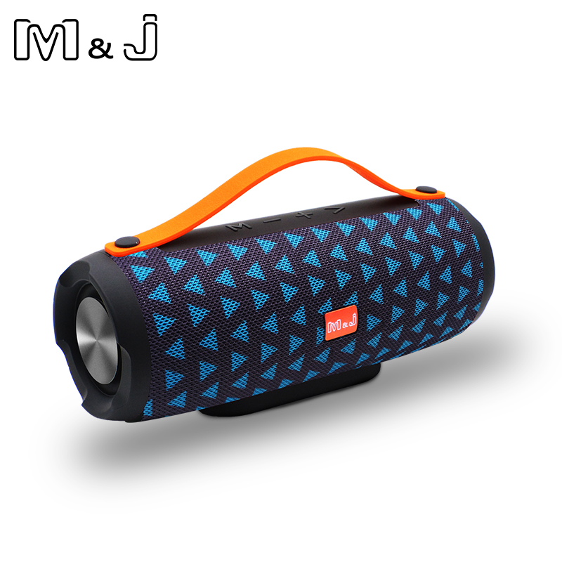 M&J Outdoor Bluetooth Speaker Wireless Portable Stereo Sound Deep Bass 10W System MP3 Music Audio AUX With Mic For Android IOS mifa a10 bluetooth speaker wireless portable stereo sound big power 10w system mp3 music audio aux with mic for android iphone