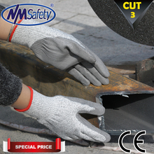 NMSafety 4 Pairs Of HPPE fiber level 3 PU Palm Coated PU Resistant Glove