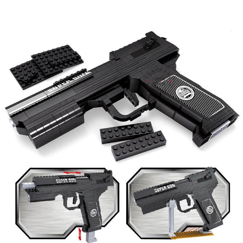 373 шт. DIY nerfs Elite Пистолет Desert Eagle пистолет игрушечный пистолет модели Building Block Набор Пластик Игрушечные лошадки комплект подарок для детская