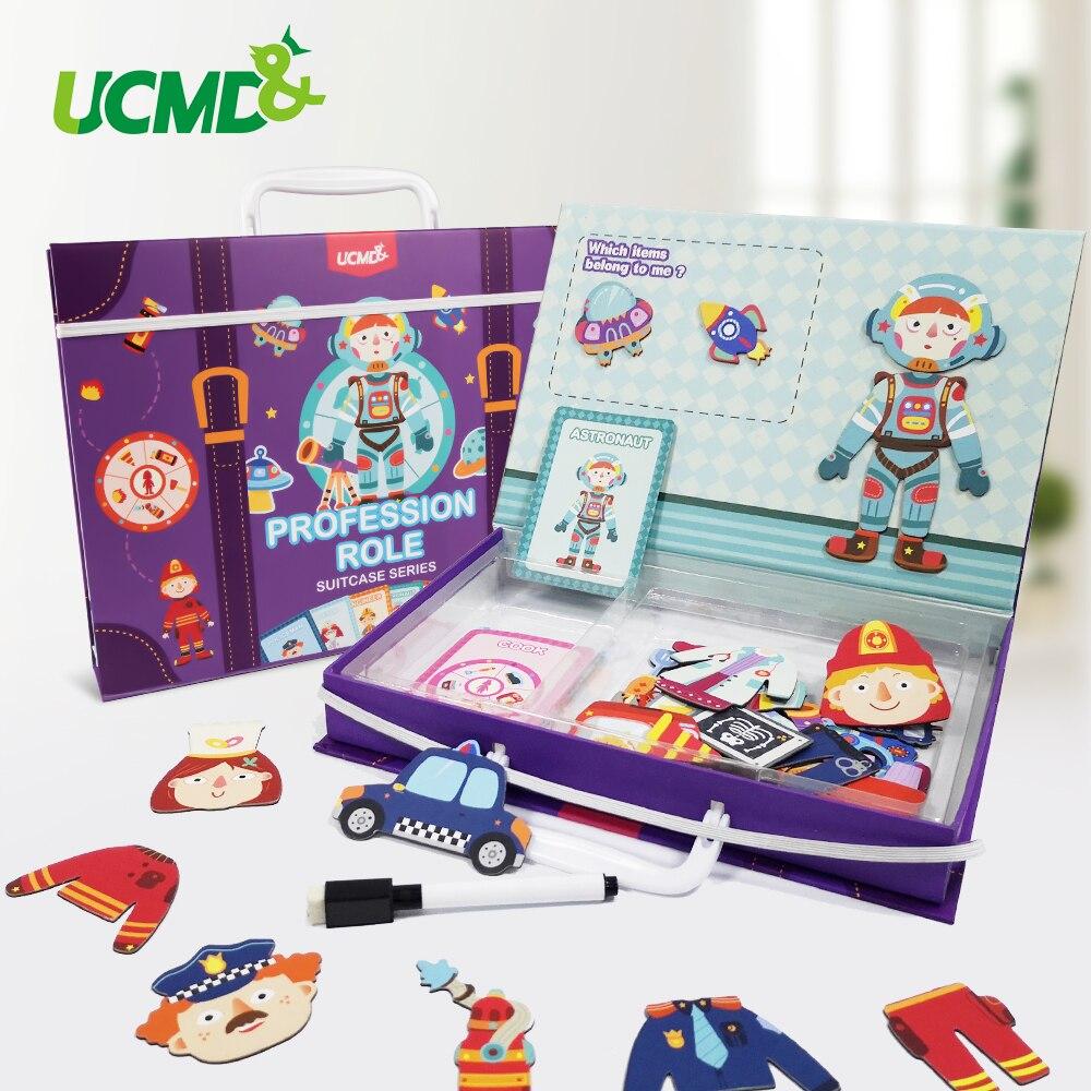 마그네틱 3d 퍼즐 직업 역할 지그 소 퍼즐 내가 게임 퍼즐 퍼즐 어린이를위한 교육 장난감 학습 어린이 선물-에서퍼즐부터 완구 & 취미 의  그룹 1