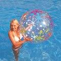 85 см Прозрачный Надувной Пляжный Мяч Открытый Спортивный Мяч Всплеск Играть плавать Бассейн Водные Игрушки ПВХ Vent Шары Для Детей Завышенным игрушка