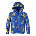 Minions Boys Jacket Cotton-Padded Winter Coat Children Clothing