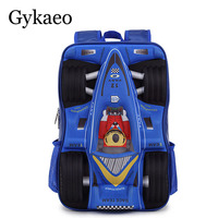 New Arrival Racing Car designer boys girls students bag school cool backpacks travel backpack children bags free shipping