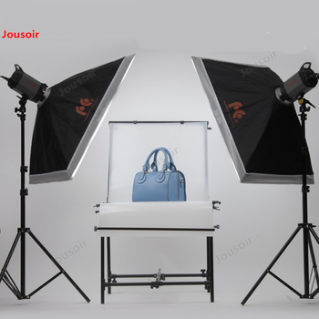 Falconeyes 400W Flash two lamps with still life Table professional Studio model clothing shooting Flash  CD50 T03