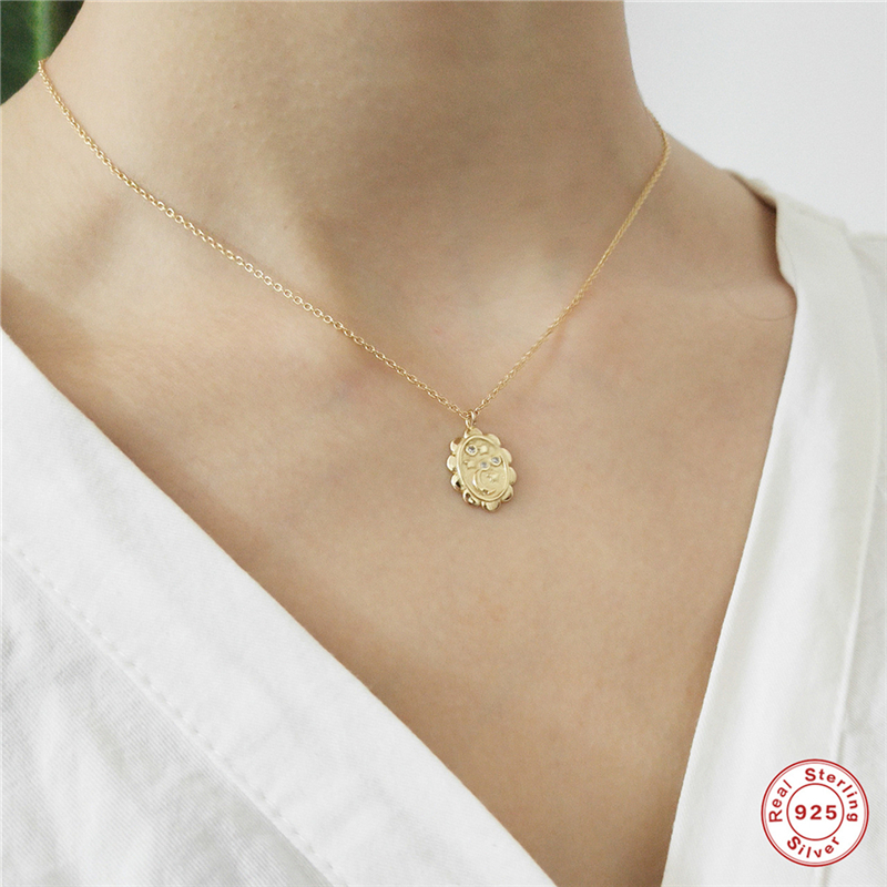 BOAKO 925 Sterling Silver Choker Star Moon Pendants Necklace Trendy Wild Gold Necklaces Women 2019 Charm Jewelry collier femme