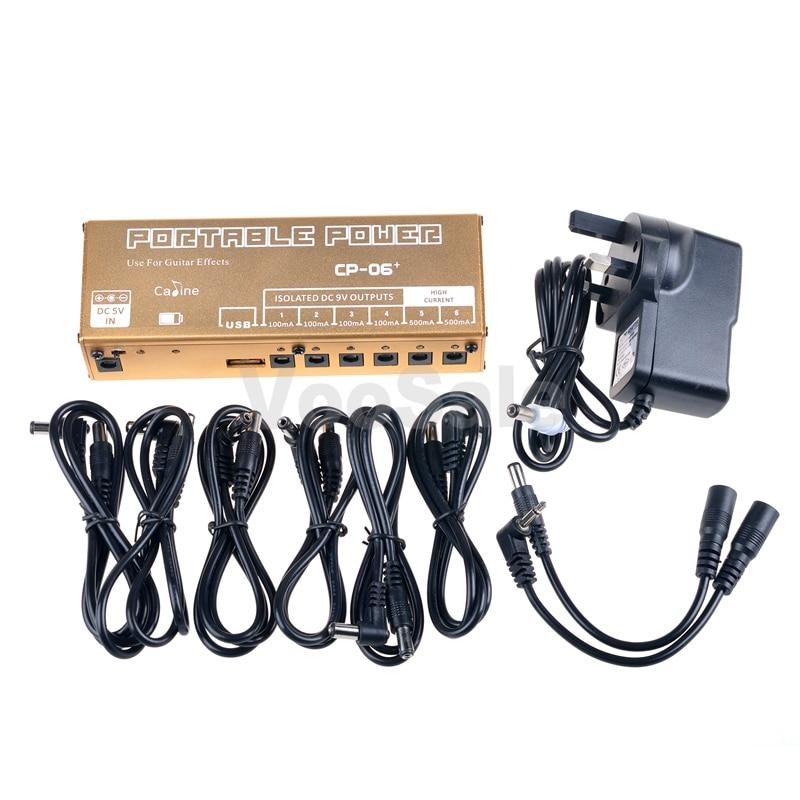 Caline CP-06+ Portable Power Power Supply Guitar Effect With AU/EU/AU/UK Plug Guitar Accessories autoeye cctv camera power adapter dc12v 1a 2a 3a 5a ahd camera power supply eu us uk au plug