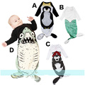 Baby Sleeping Bag Penguin/Bear/Shark/Mermaid Pattern Infant Boys Girls Autumn Spring Long Sleeve Sleeping Bags YH-17