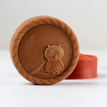 Silicone Soap Mold Round Shape with Owl Design for Natural Handmade Chocolate Candy Mould