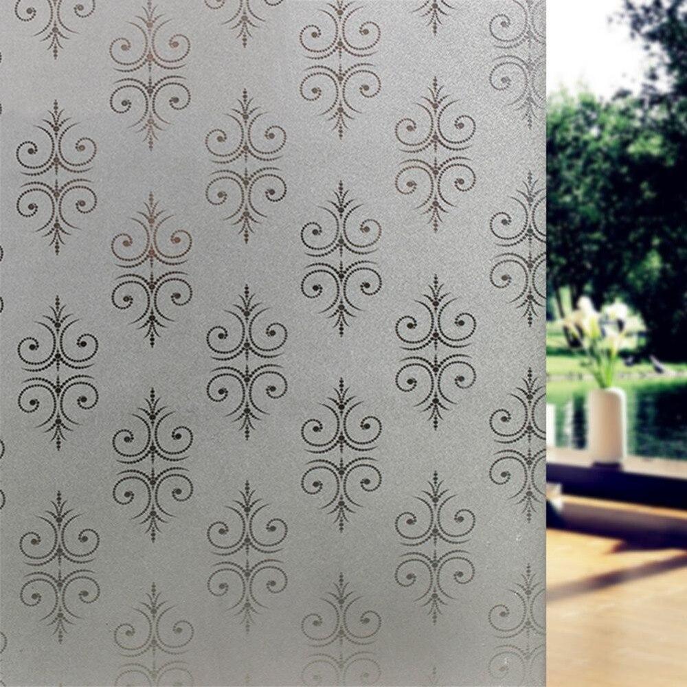 Glass window design - Pvc Windows Glass Film 45 200cm Flower Design Opaque Protect Privacy For Home Amp