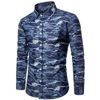 Mens Long Sleeve Shirt Men Shirts Tailoring Plus Size Men S Fashion Trend Of The Camouflage