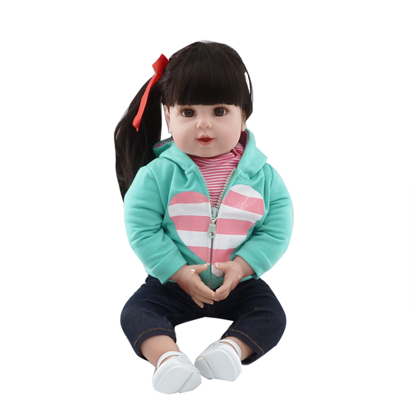 Fashion Dolls Realistic High Quality Toys for Babies Girls Gifts Soft Cotton Doll About 50Cm Bedtime Comfort Dolls for Girl beanie babies yo gabba gabba plex 35cm plush toys