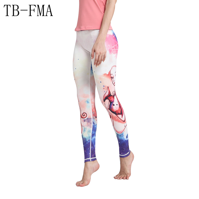 Yoga Pants Women Quick Dry Floral Printed High Waist Fitness Leggings Push Hip Athletic Sport Compression Sport Tights Yoga