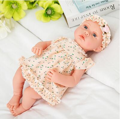 Ny 18-tommers livlig gjenfødt baby myk vinyl ekte touch dukke - Dukker og tilbehør - Bilde 6