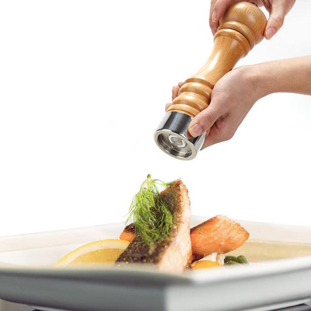 Premium wood salt and pepper grinder