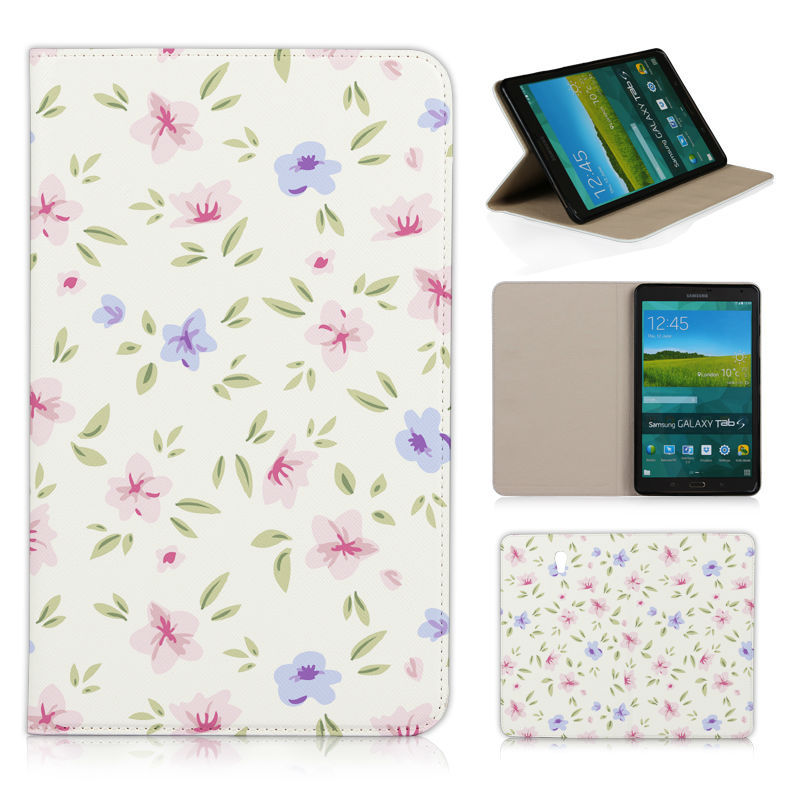 BTD New Light color simple Floral leather case for SAMSUNG GALAXY Tab S T700 8.4 photo frame flip cover Free film