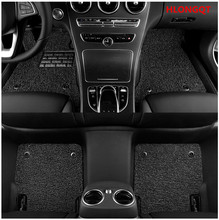HLONGQT Auto Floor Mats For Ford Explorer 2013.2014.2015 Foot Step Mat High Quality Water Proof leather Wire coil 2 Layer