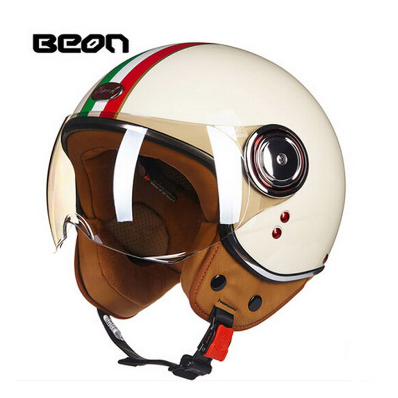 2017 Winter Fashion CE Authentication Netherlands band BEON Retro Motorcycle helemt made of ABS and PC Visor lens size M L XL