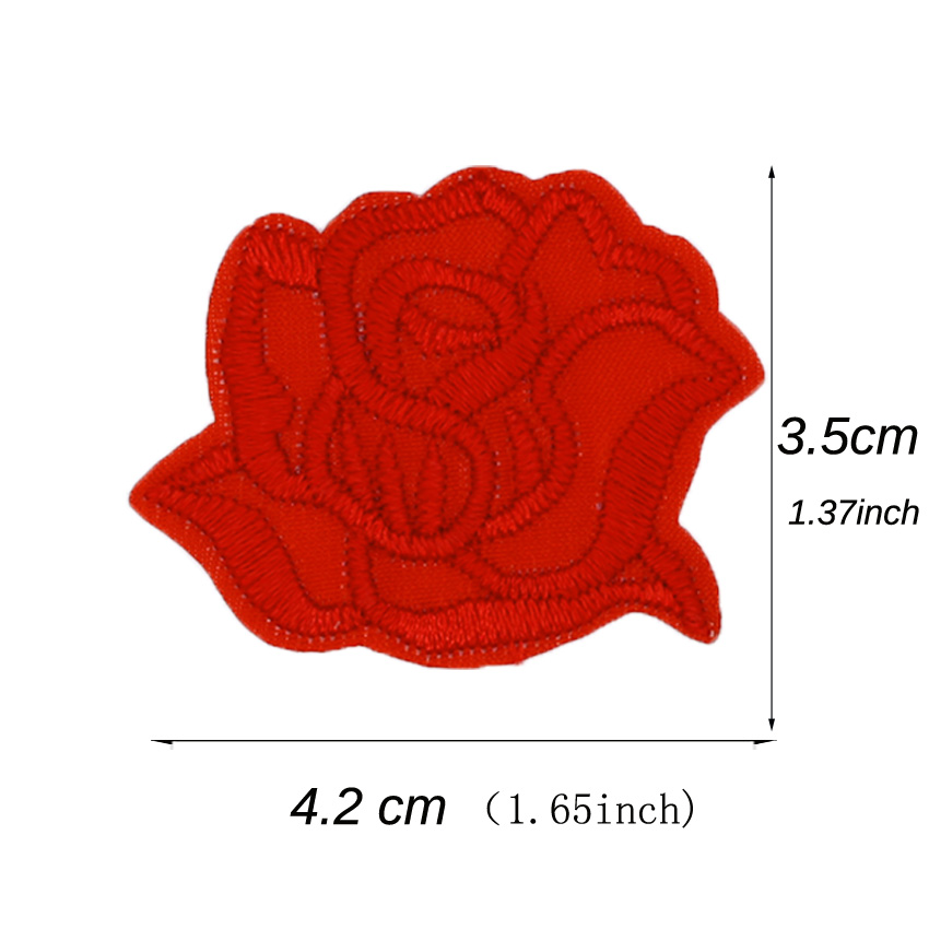 New Rose Flower Embroidery Patch Skirt Dress Jeans Applique 10pcs