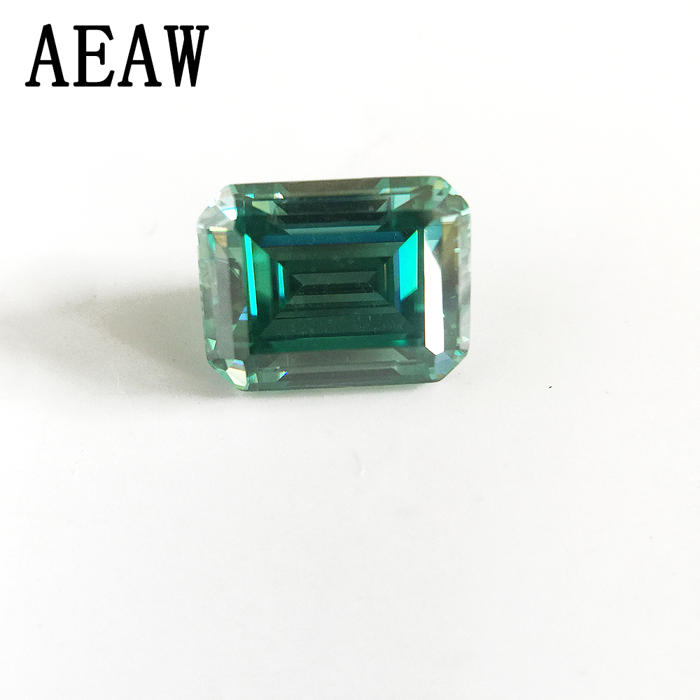Emerald Baguette Cut Brilliant 4x6mm 0.8CT Green Moissanite Loose Stone VVS Excellent Cut Grade Test Positive Lab Diamond ...