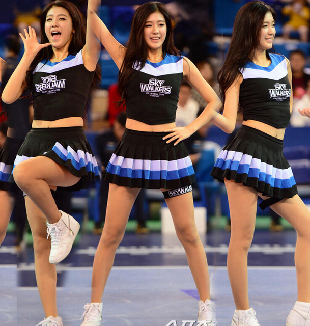 Korean High School Cheerleader Costume Cheer Girls Uniform -7167
