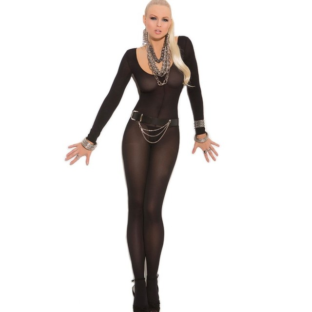 Sexy lingerie bodystocking catsuit sexy 3 color foxy long sleeve